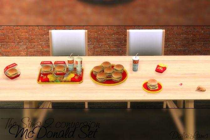 Mcdonald Set By Dalailama At The Sims Lover Sims 4 Updates Sims 4 Sims Sims 4 Kitchen
