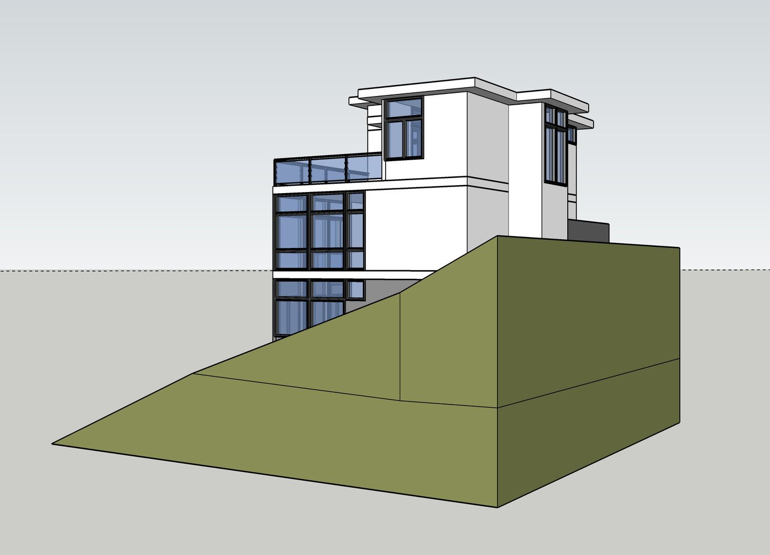 Smart Solutions for Steep Slope Building — warmmodern