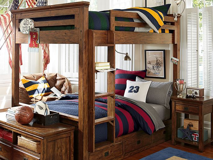 Captivating I Love The PBteen Oxford Rugby Bunk Bedroom On Pbteen.com