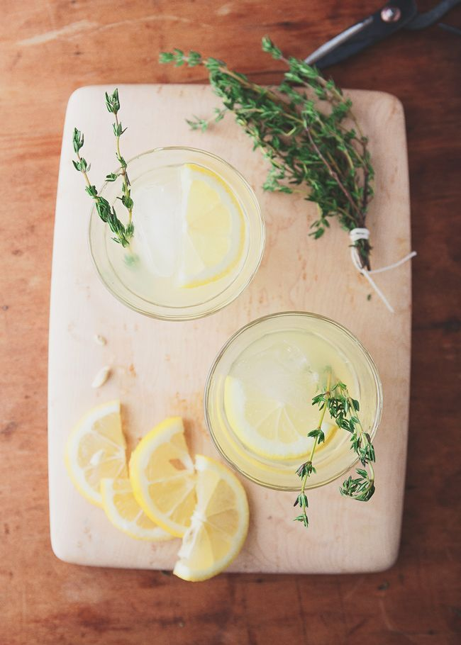 Make your own thyme lemonade this weekend!