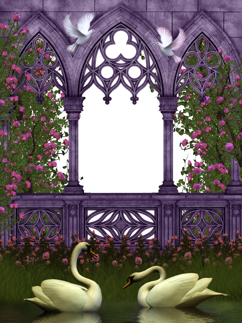 Rose Garden 44 By Collect And Creat On Deviantart Art Background Pretty Wallpapers Framed Wedding Photos