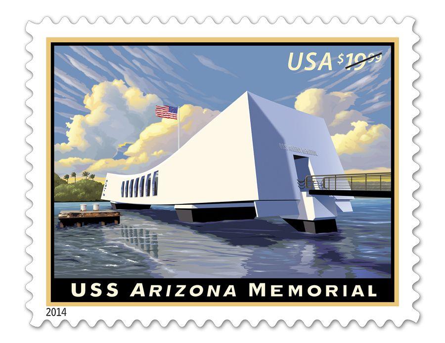 USNavy Helps Unveil USPS Stamp Honoring USS Arizona Memorial PearlHarbor
