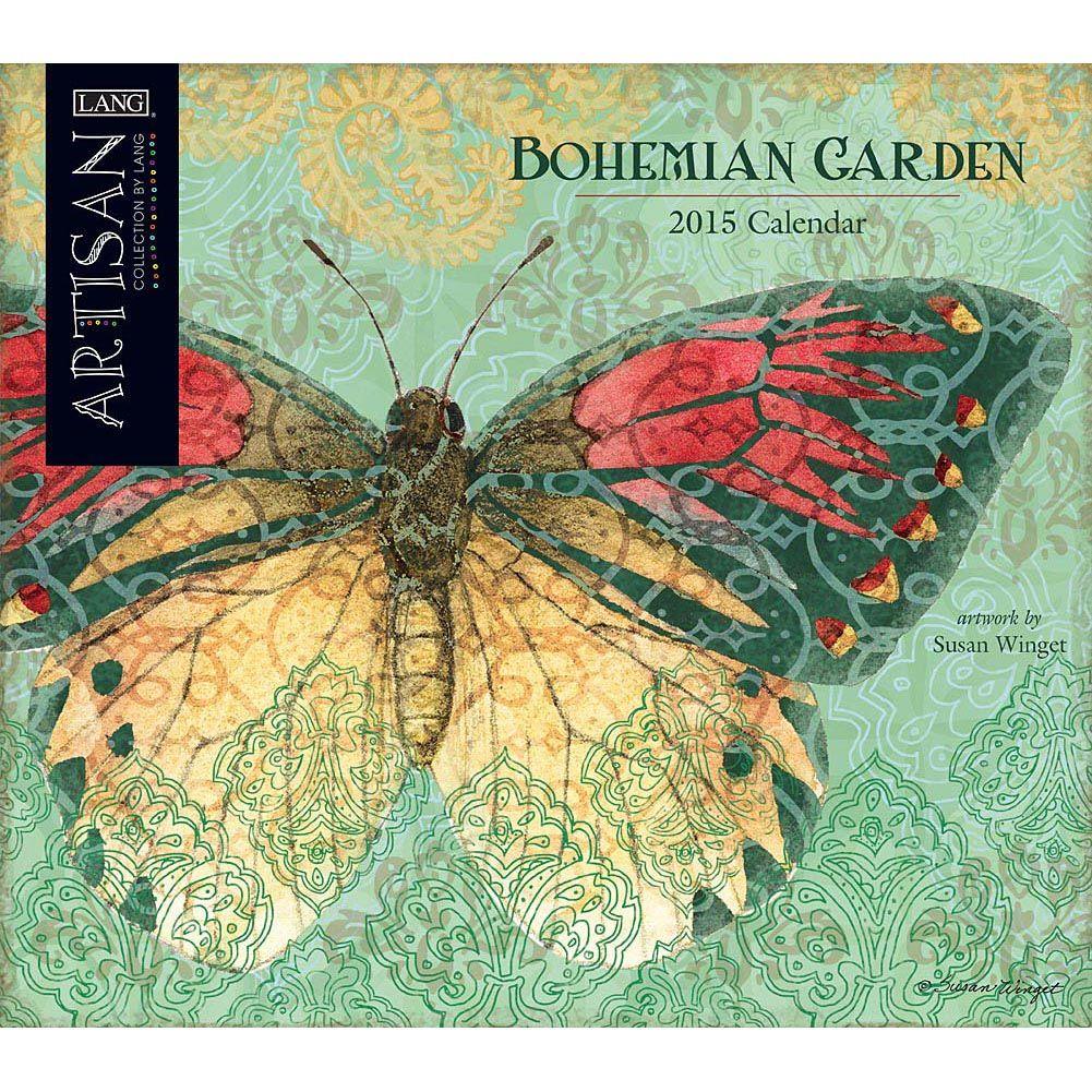 Bohemian Garden 2019 Wall Calendar | Art calendar, Bohemian and Folk art