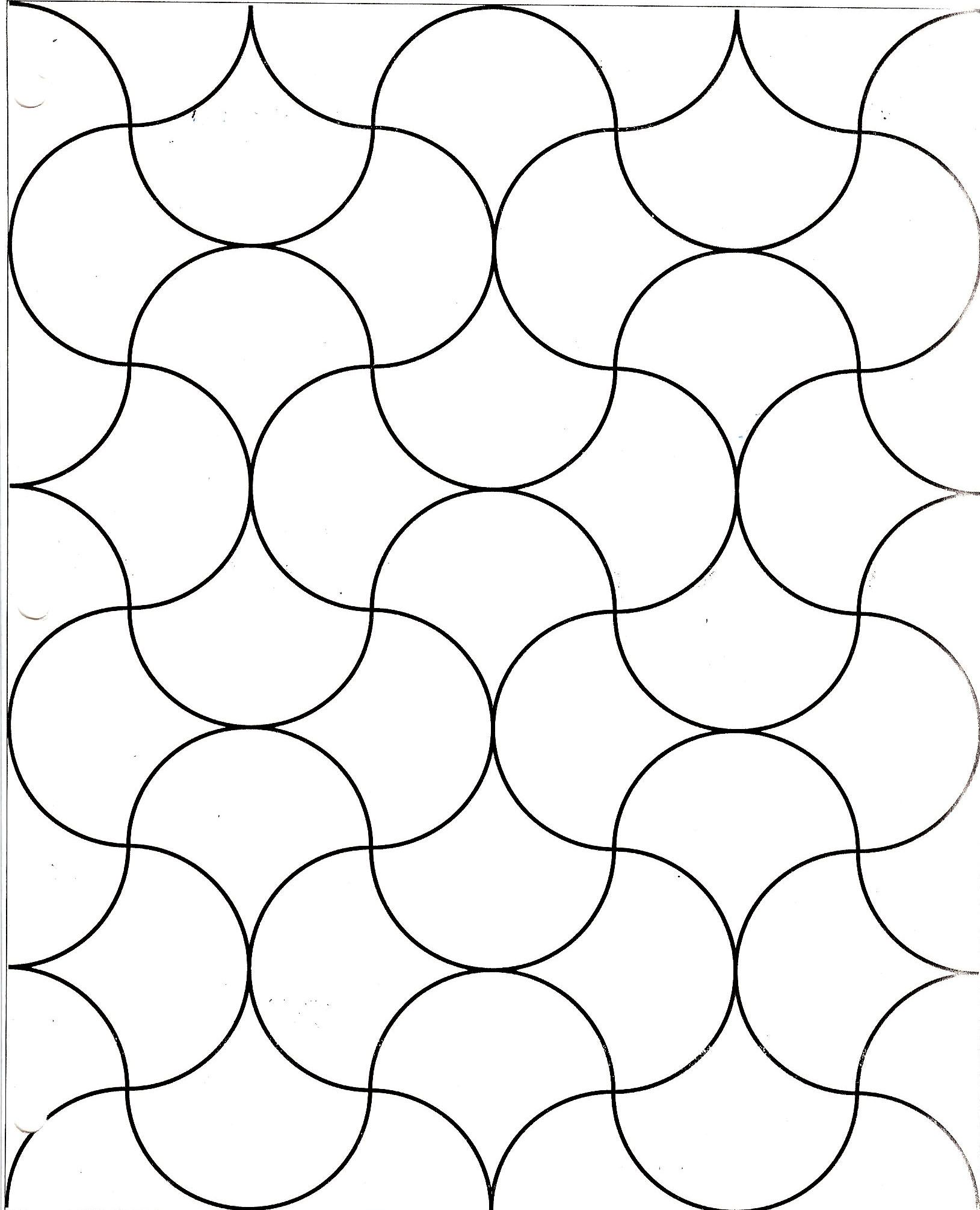 Clamshell grid for a quilt design how to make and