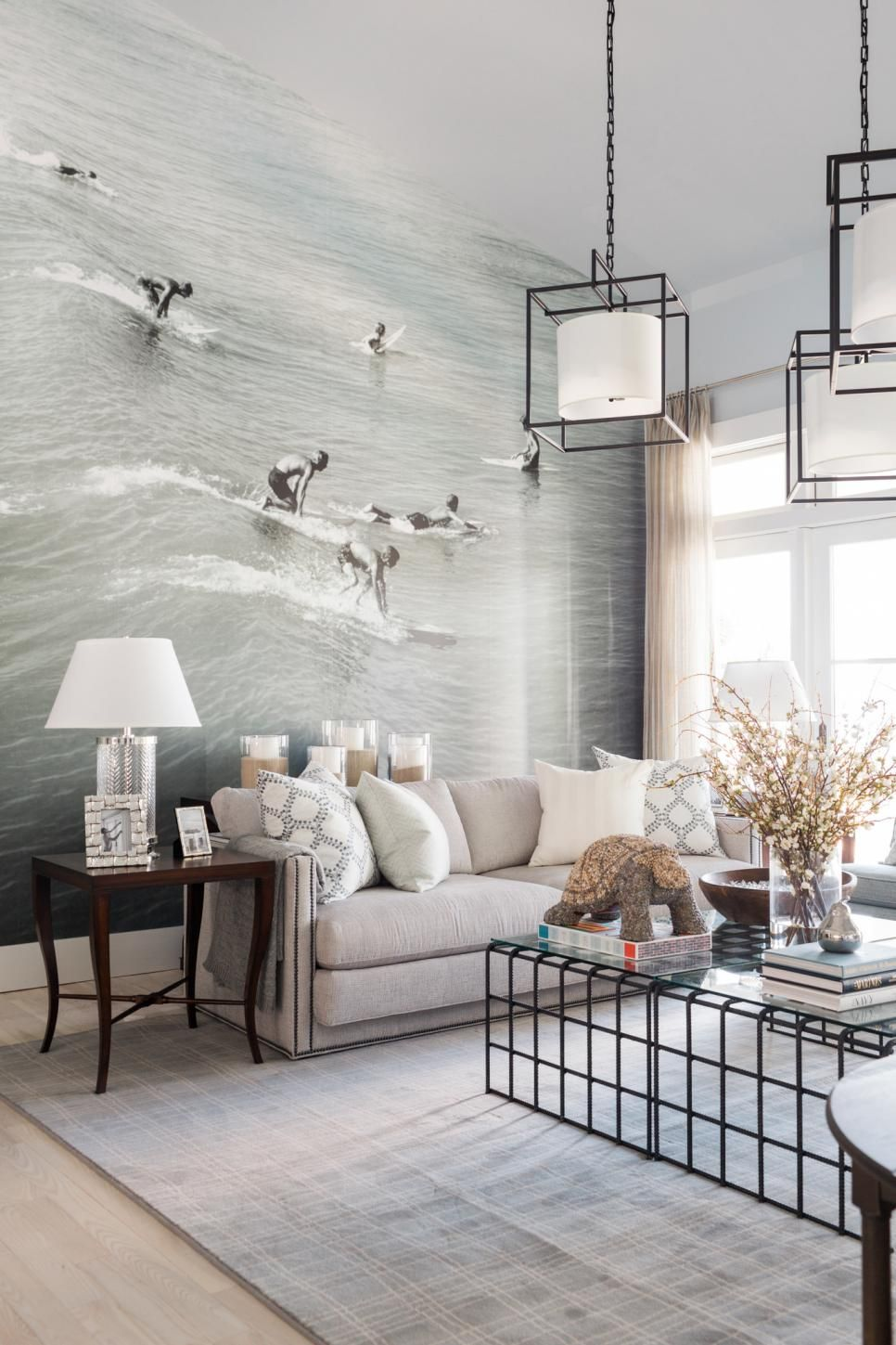Living Room Hgtv Dream Home 2016 The Floor To Ceiling Photo Mural Is My Favorite Element In This Year S