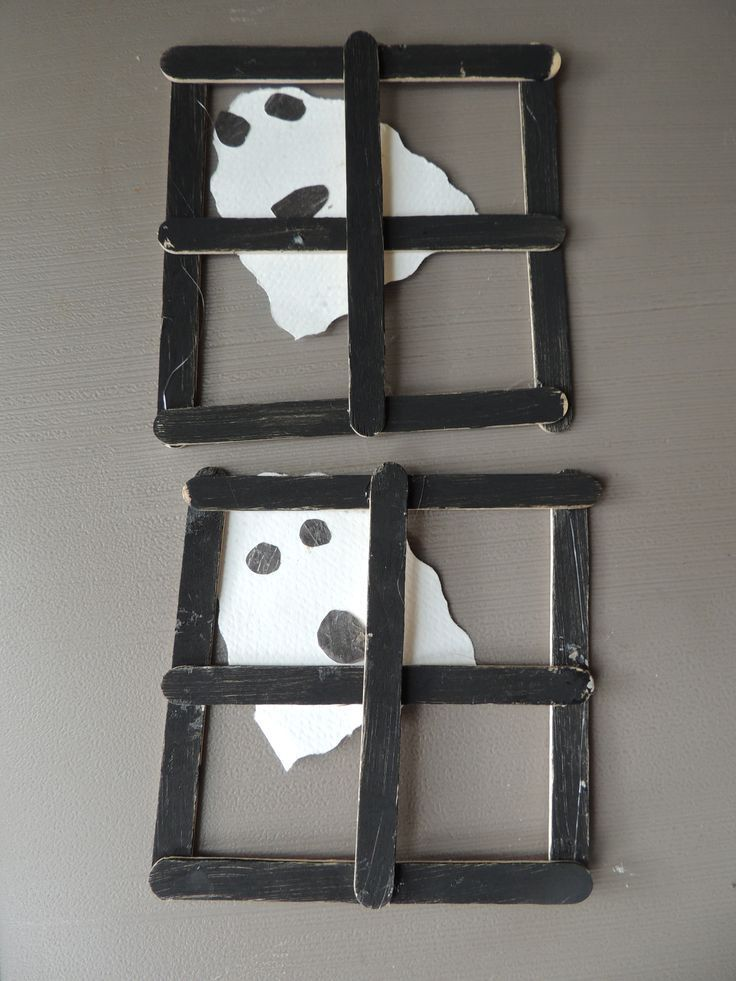 ghost window preschool halloween craft