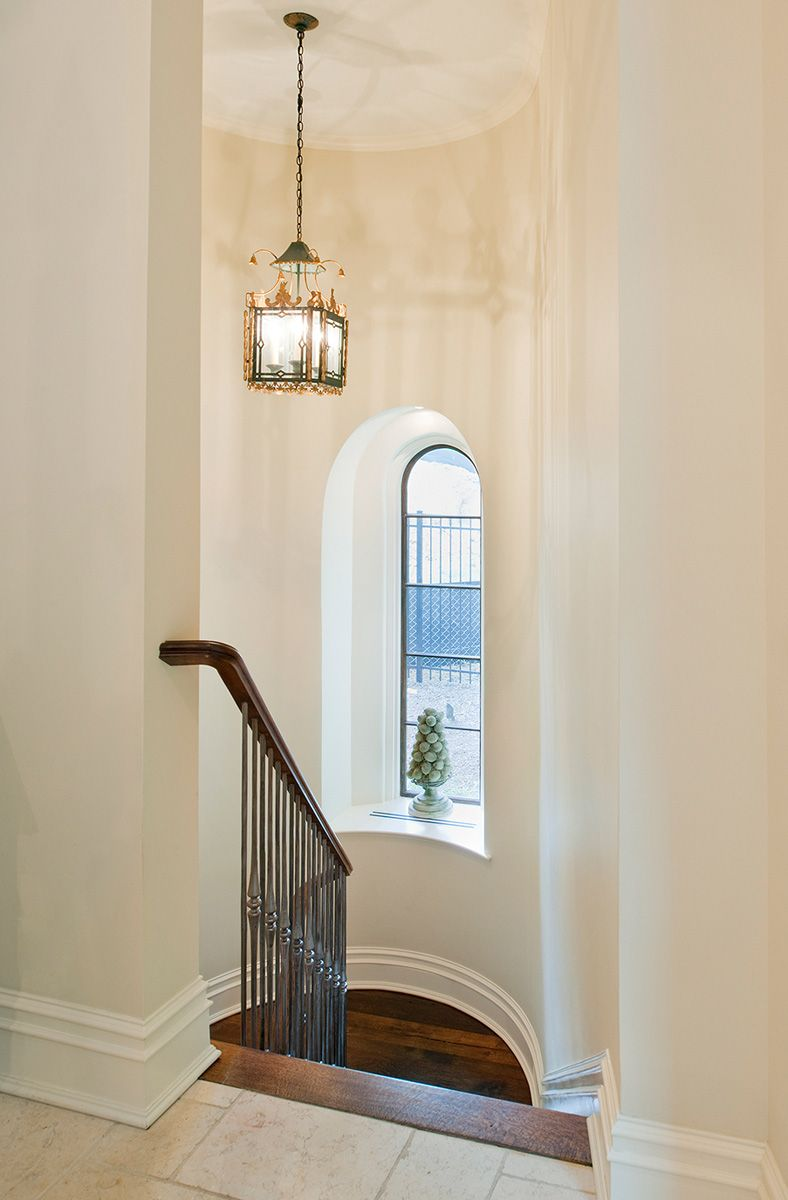 Curving stairwell in Washington DC Staircase design
