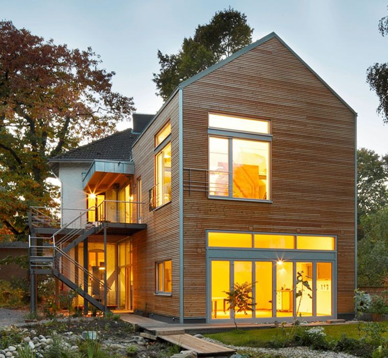 Einfamilienhaus neubau modern holz  Anbau, Architektenbüro, Architektenhaus, Architektin, Baufritz ...