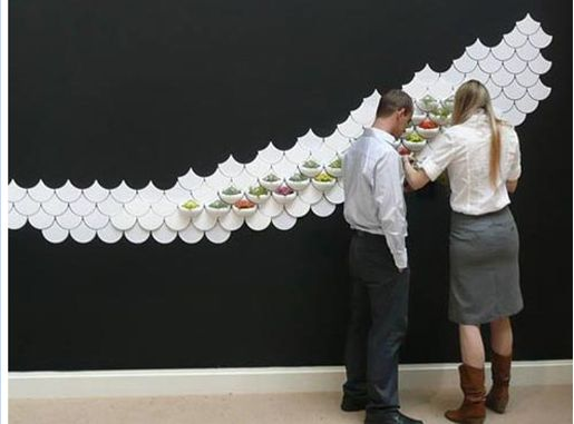 in home gardening wall- green pockets by Maruja Fuentes