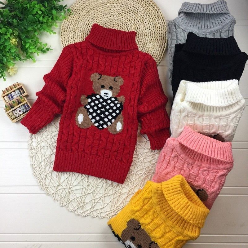 aa07661ce2db Big Size 2T-7T pullover winter autumn infant baby sweater boy girl ...