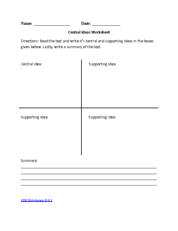 8th Grade Common Core | Reading Literature Worksheets | Englishlinx ...