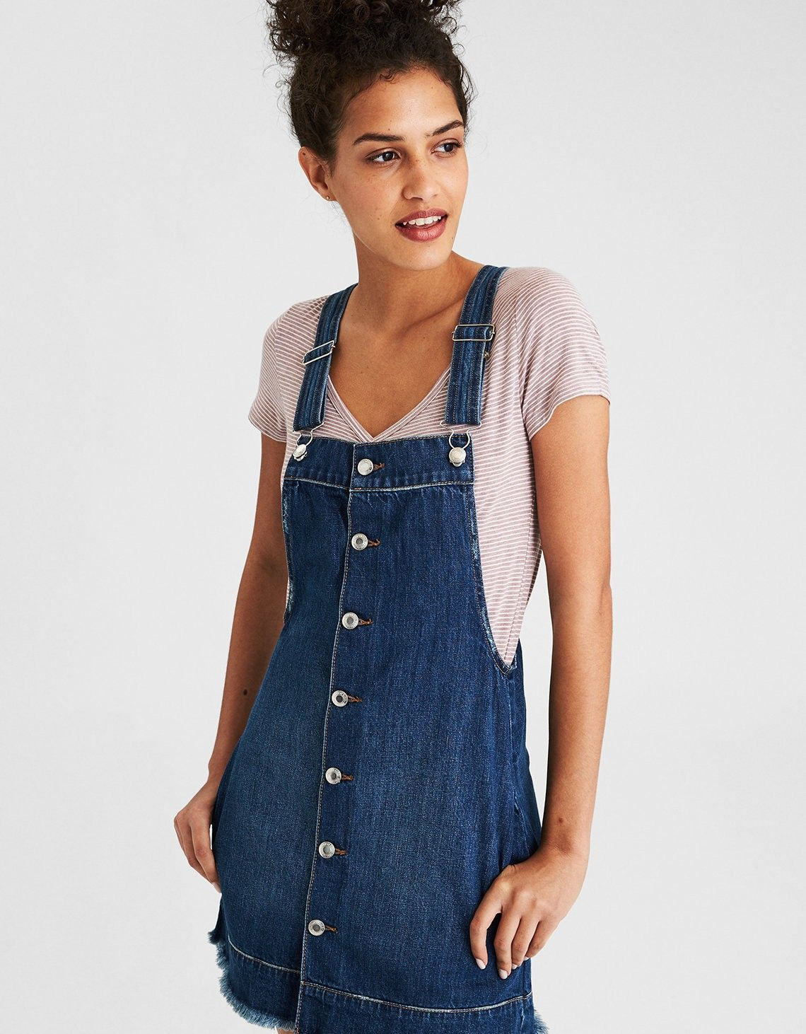152fc3a3e American Eagle AE Denim Overall skirt