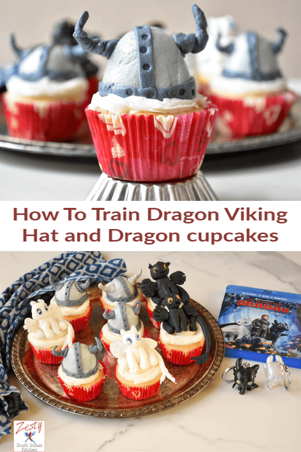 How To Train Dragon Viking Hat And Dragon Cupcakes With Fondant