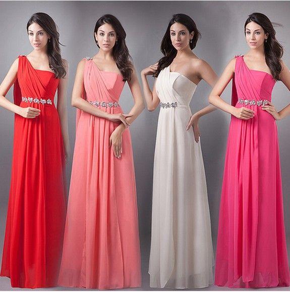 Cheap Vestido de noche largo 2015 rosa largo de noche Formal del ...