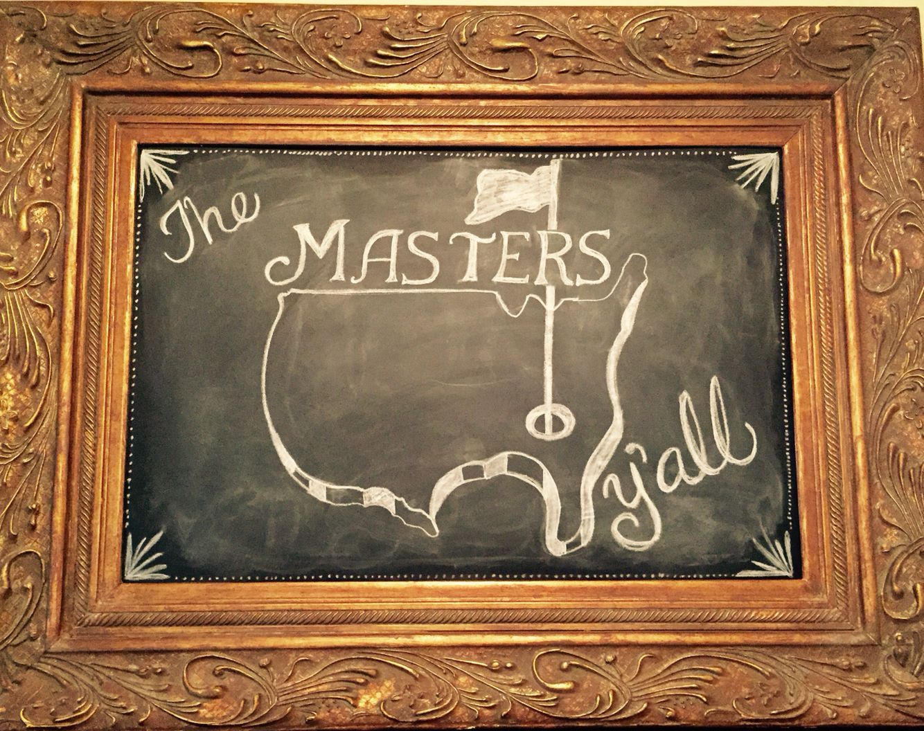The Masters golf chalkboard 2015