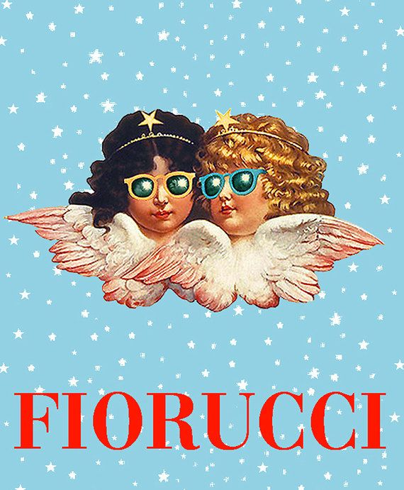 FIORUCCI • Angels With Sunglasses POSTER • 'Blue Sky' Version • Highly Collectible !!! • 1977