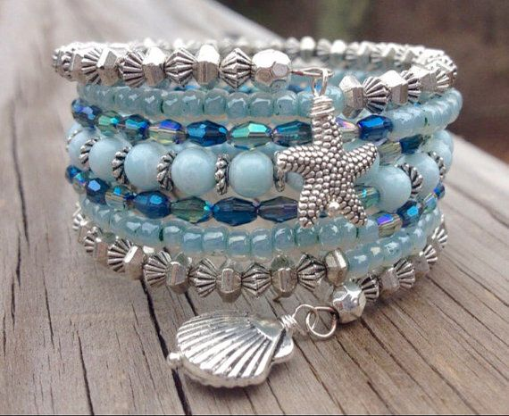 Mashnee Mandy Memory Wire Coil Bracelet With by McHughCreations