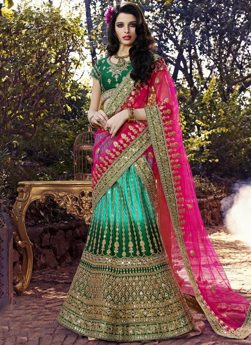 Divine net multi colour designer a line lehenga choli multi colour