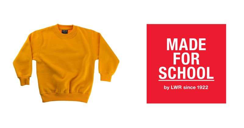 Our Essential Crew Neck Sweatshirt will keep your child warm and comfy all day whether it be at school or home. Check out the 10 colours they come in and match your child's personality, school or team.