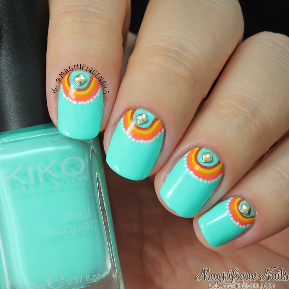 Magnifique Nails: Minty Coral Nails