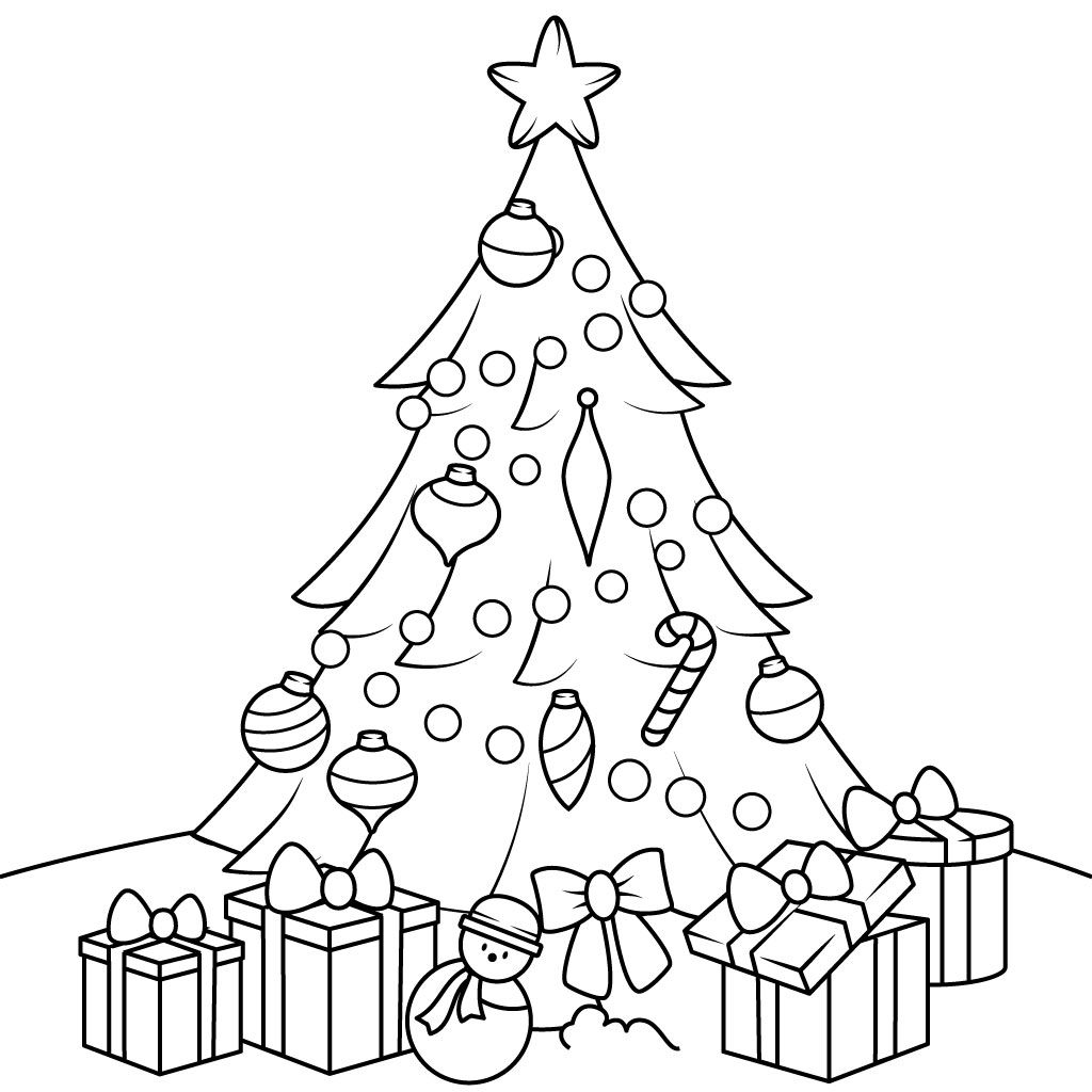 Christmas Coloring Pages For Kids On Android Ios Windows Phone Christmas Tree Coloring Page Christmas Present Coloring Pages Tree Coloring Pages