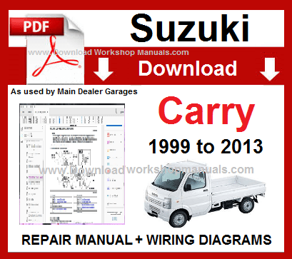 Suzuki Carry 1999 To 2013 Workshop Repair Manual Download Suzuki Carry Repair Manuals Suzuki