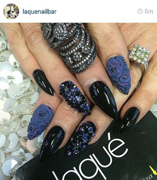 Laque Nail Bar | Móng đẹp | Pinterest | Nail bar, Black nails and ...