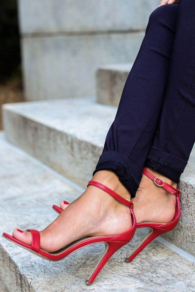 At My Best Red Ankle Strap Heels at reddressboutique.com