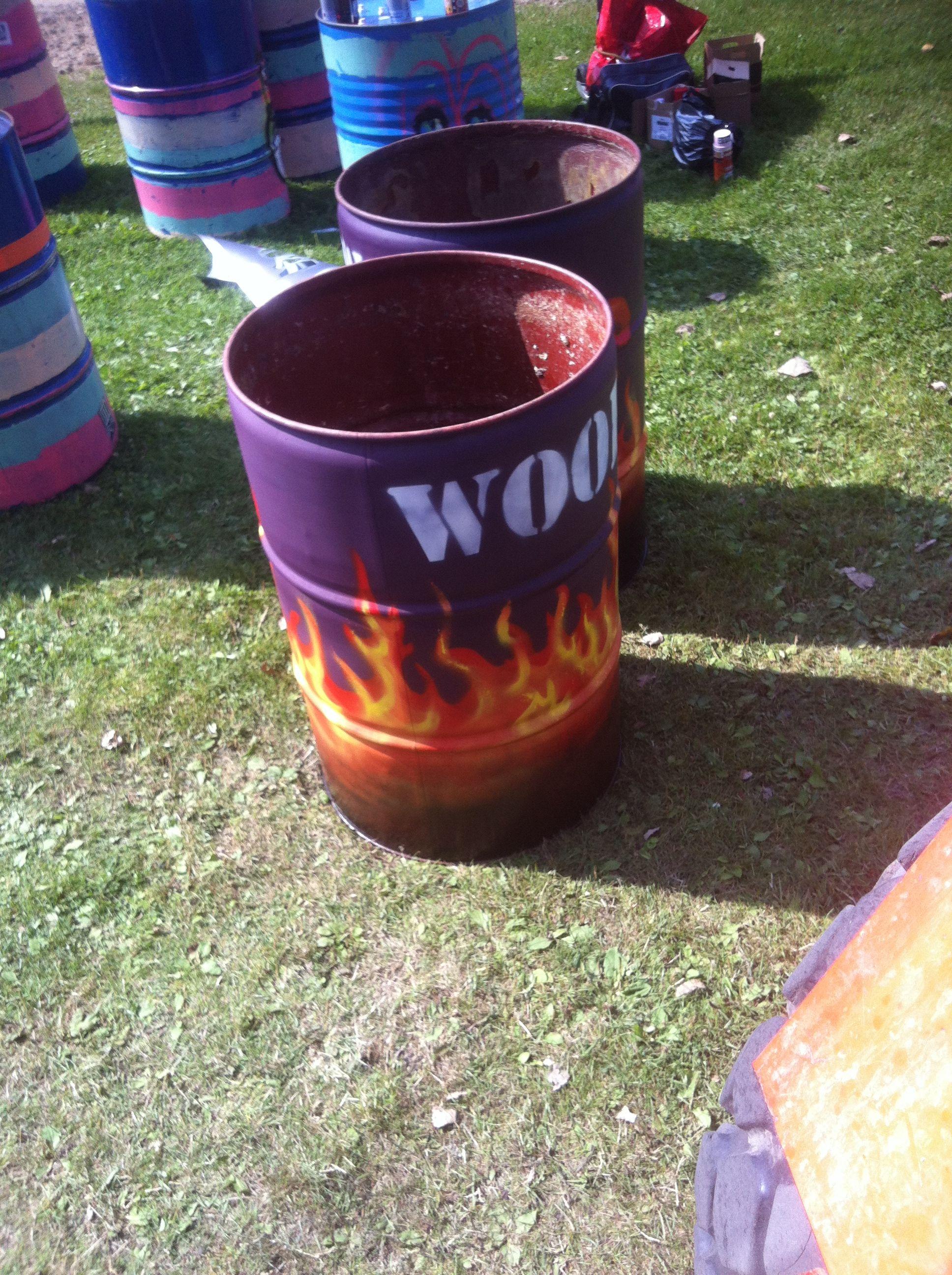 Oliedrums speciaal voor Wooferland.