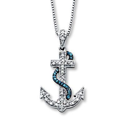 Kay Jewelers Wish Necklace 1/10 ct tw Diamonds Sterling Silver xcShcuK6