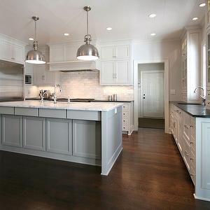 Walker Woodworking - kitchens: pot lights, white cabinets ...