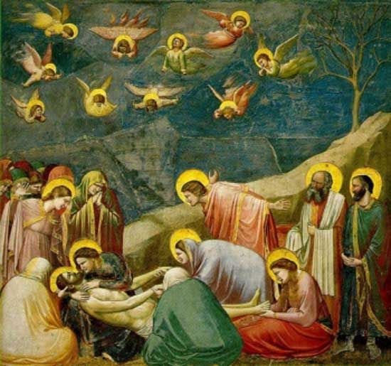 Giotto di Bondone, Lamentation, Arena Chapel, Padua, Italy, Ca. 1305, Fresco
