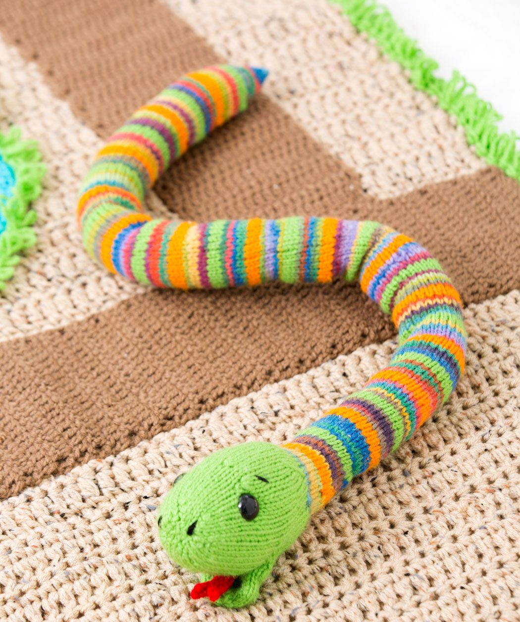 Friendly snake loom knit ideas for addy hudson pinterest friendly snake free knitting pattern from red heart yarns bankloansurffo Choice Image