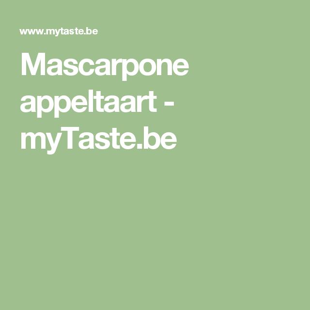 Mascarpone appeltaart - myTaste.be