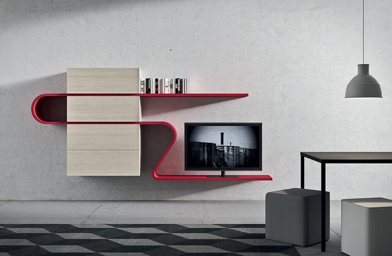 Meuble Wave Novamobili Design Nova Lab Ann E Shelves  # Meuble Tv Original Design