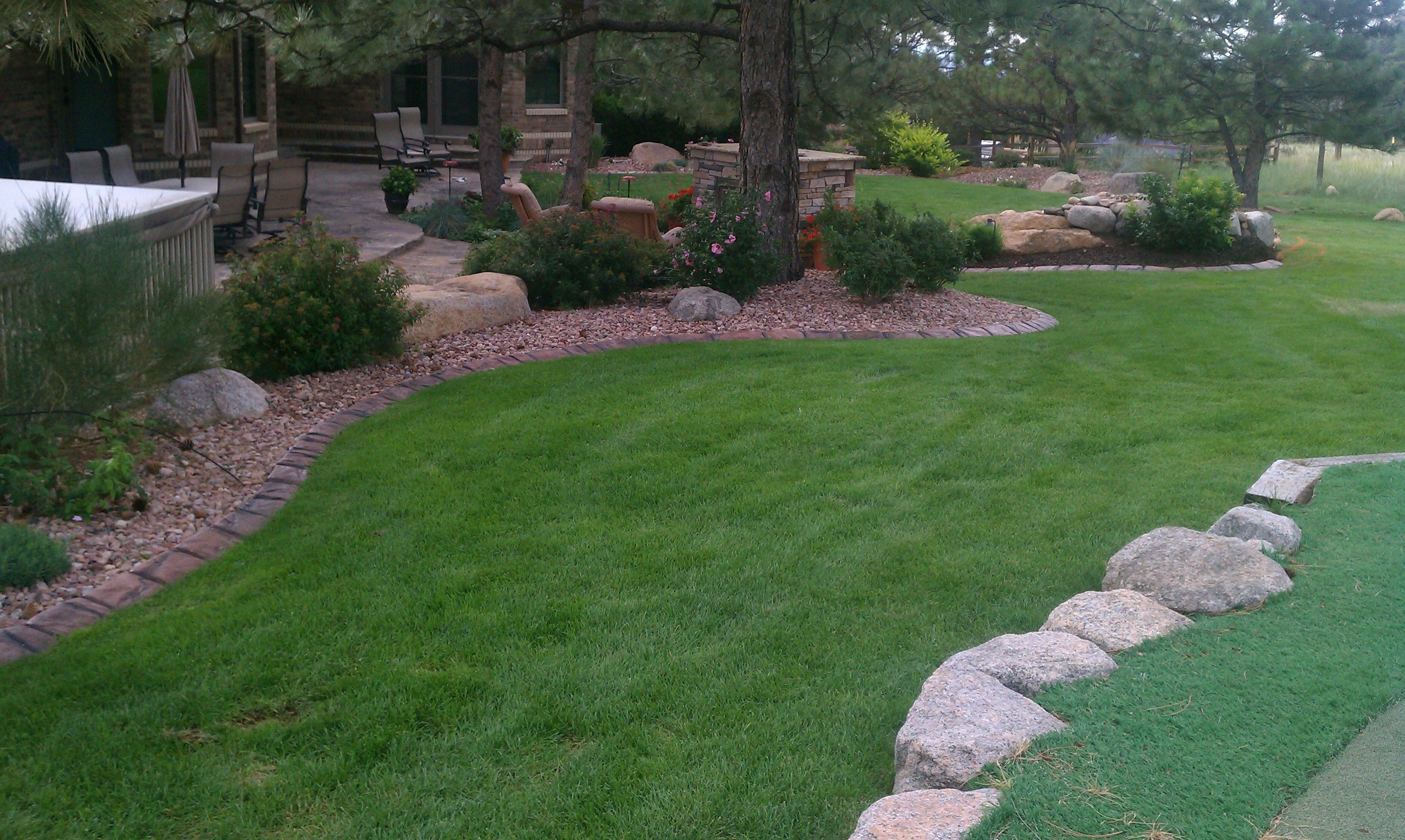 Landscape edging.  Natural look.  Permanent solution for landscape border in Colorado Springs, Colorado 80922