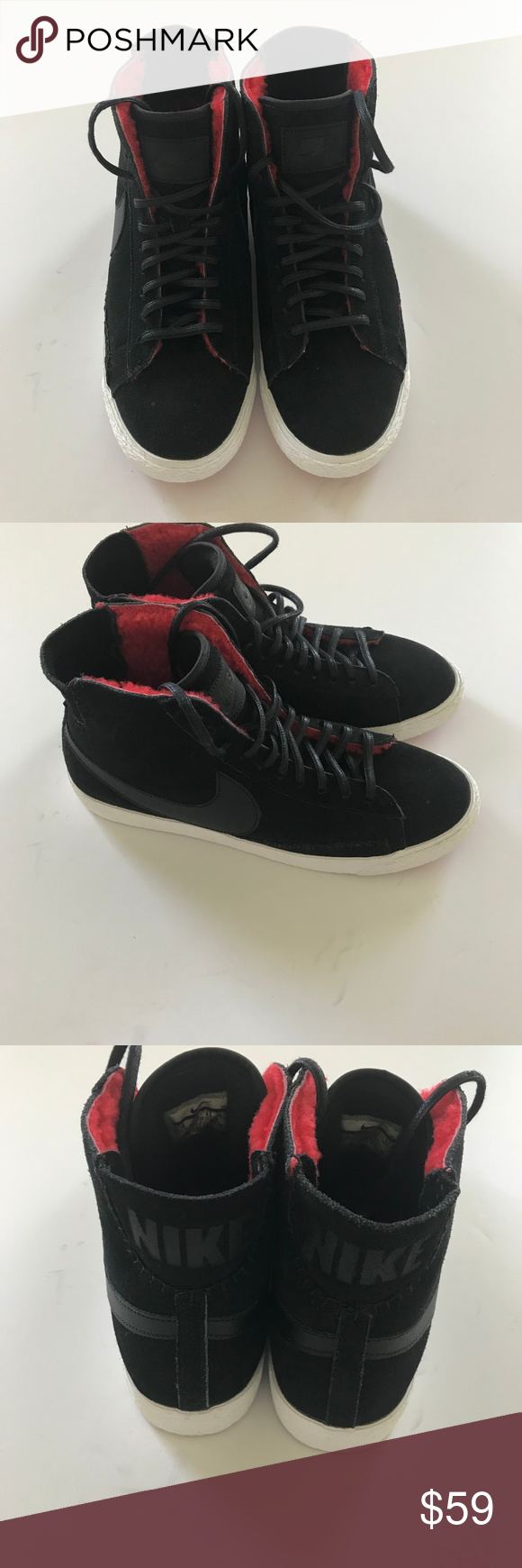 46897121f23 Nike Blazer Mid Premium Black Suede High Top new without box have been  handled in store