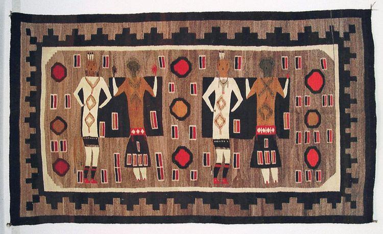 Yei Be Chei Navajo Rug Male And