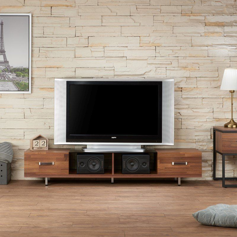 Acme Furniture Sara I Tv Stand In Walnut And Smoky Glass 91790 Black Glass Tv Stand Glass Tv Stand Walnut Tv Stand