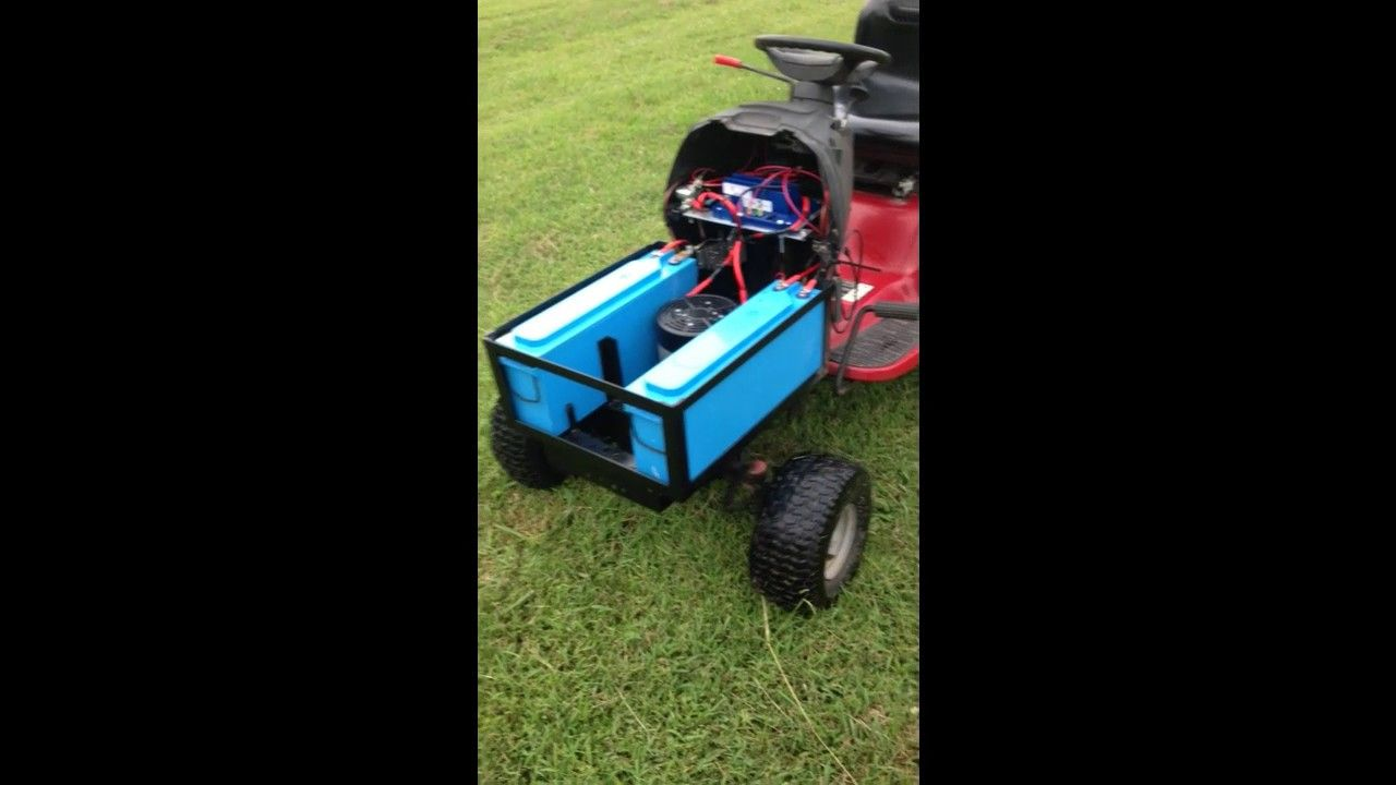 Electric Riding Lawn Mower Conversion Electric Riding Lawn Mower Riding Lawn Mowers Lawn Mower