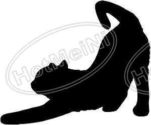 CAT STRETCHING Car Window Sticker Vinyl Decal Funny JDM For - Vinyl decal cat pinterest