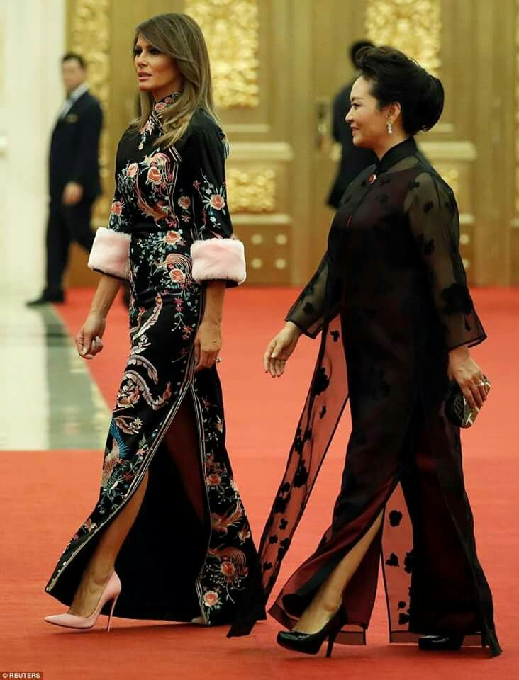 07ea8da66 Our BEAUTIFUL First Lady, Melania, looking STUNNING in Dolce & Gabanna and  Madame Peng Liyuan of China ... Gorgeous ladies!! ... 👏👏👏 ... 💗 ...  #MAGA!!
