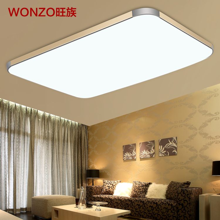 large lighting fixtures. Wang Clan Slim Led Ceiling Lamp Modern Minimalist Rectangular Large Living Room Balcony Bedroom Lighting Fixtures-in Lights From Lig. Fixtures G