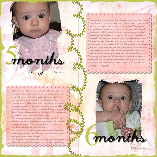 Baby Book Ideas: A Baby Month By Month Scrapbook Page Is A Must Have For