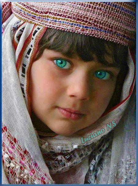Light Blue Eyes Kazakhstan Asia Europe Childhood Beautiful Eyes