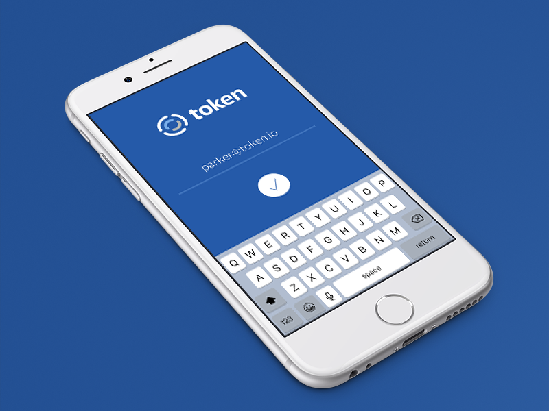 Token iPhone App Login Screen | Mobile UI Examples | App login