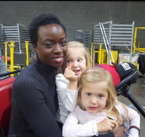 Danai With Tinsley And Anniston Price Aka Judith Grimes S4 Twd