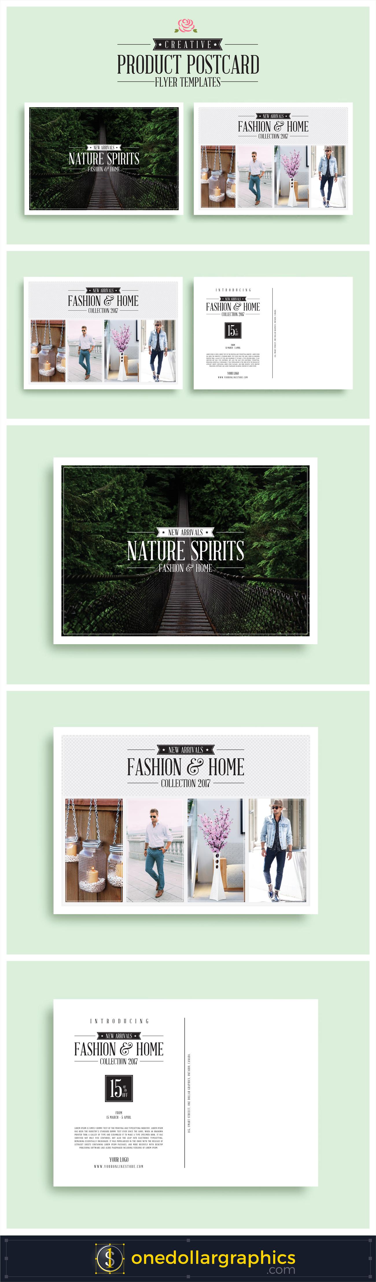 CreativeProductPostcardFlyerTemplates Brochures And Flyers - Postcard flyer template