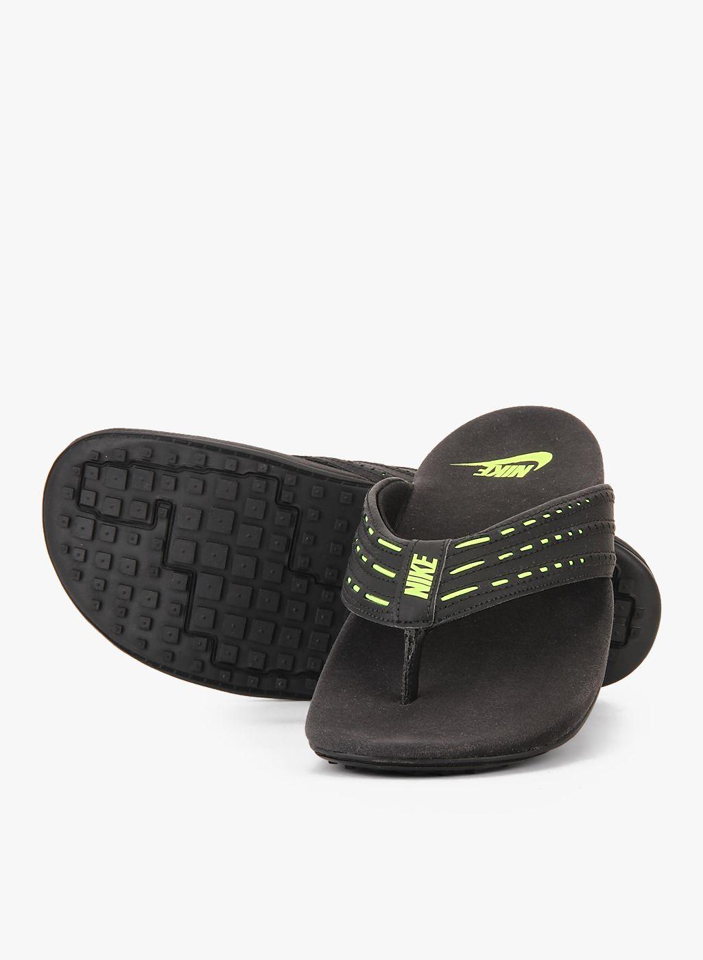 00641c0c794 Buy Nike Keeso Thong Black Slippers for Men Online India