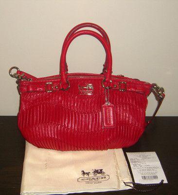 a17341ef9307e Nwt Coach Madison Gathered Leather Sophia Handbag 18620 Raspberry ...